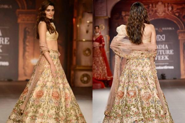 kriti sanon at india couture week in delhi