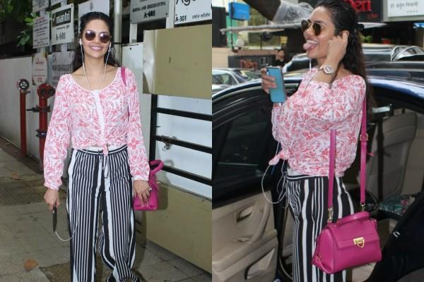 esha gupta spotted outside the clinic