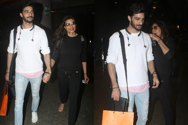sushmita sen spotted at airport with boyfriend rohman shawl