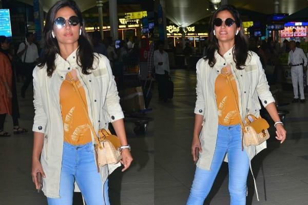 hina khan looks stunning at airport