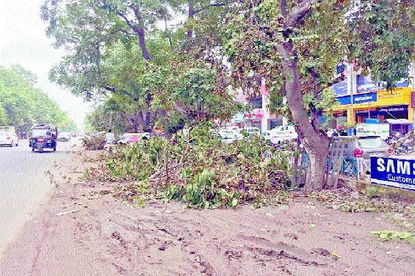 power poles dashed in rainy season