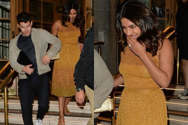 लंदन में होटल के बाहर पति निक संग कुछ यूं दिखीं प्रियंका, शिमरी ड्रेस में दिखा खिलखिलाता चेहरा