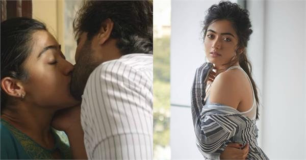 rashmika mandanna kissing scene in dear comrade with vijay devarakonda