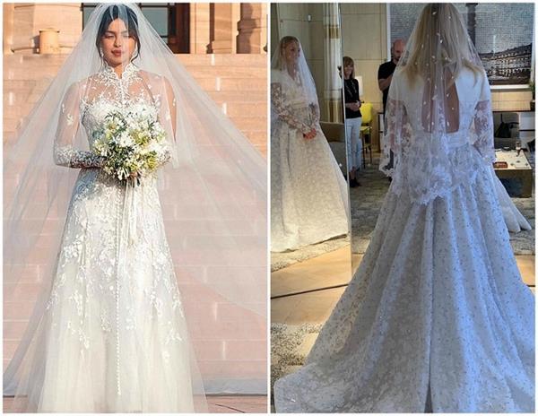 priyanka chopra or sophie turner who looked stunning in white gown