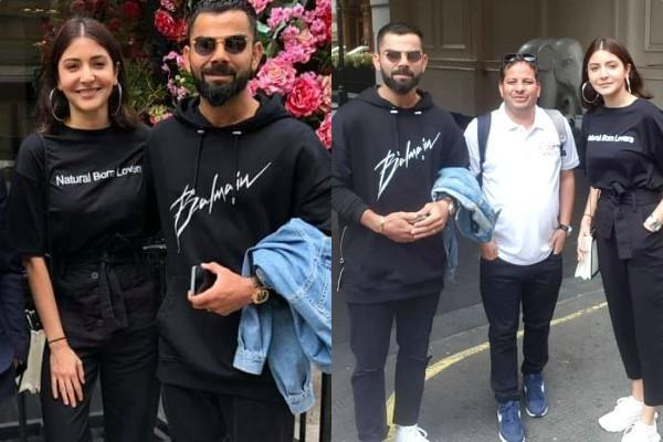 virat anushka spent day out in london after loss in world cup