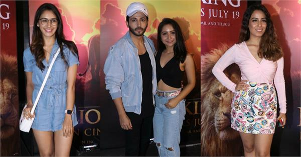 bollywood stars attend screening of much awaited disney the lion king