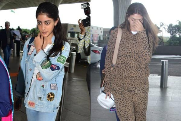 shweta bachchan nanda spotted at airport with navya naveli nanda