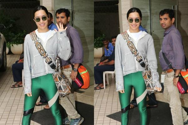 shraddha kapoor spotted outside the dubbing studio
