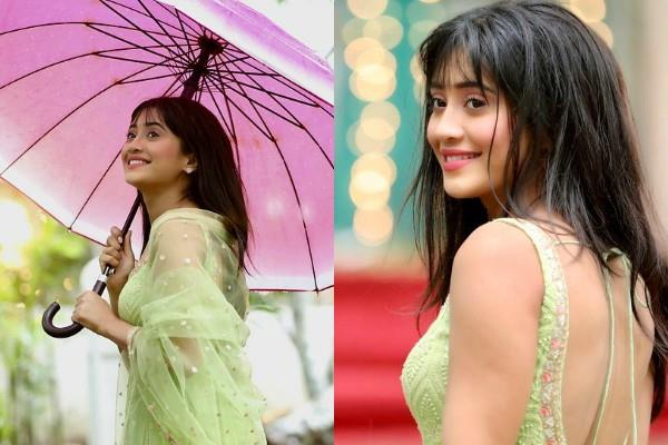 shivangi joshi enjoy rain on set yeh rishta kya kehlata hai