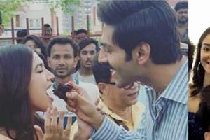 bhumi pednekar celebrate her birthday on the set of pati patni aur woh