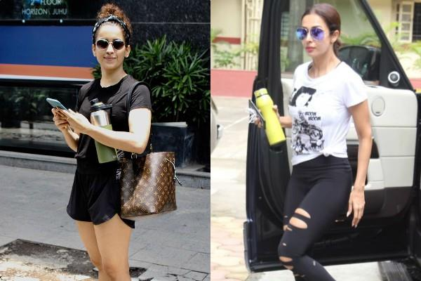 malaika arora and sanya malhotra spotted at gym