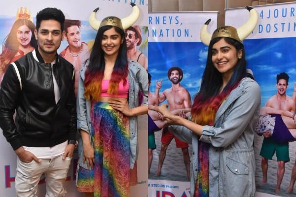 adah sharma priyank sharma at the holiday press interactions