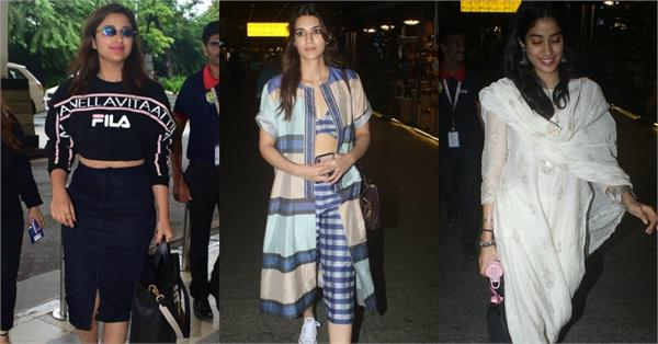 parineeti chopra kriti sanon janhvi kapoor spotted at airport