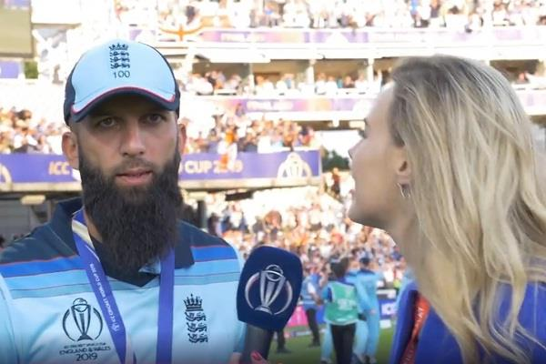 moeen ali didn t even see woman anchor during the entire interview