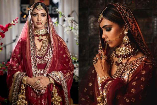 pooja banerjee bridal photoshoot pictures