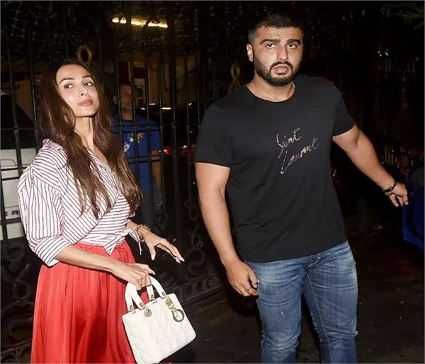malaika reached at dinner party with arjun kapoor