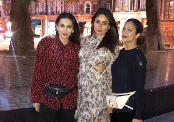 kareena kapoor night out with karisma and amrita
