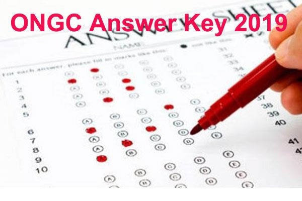 ongc answer key 2019 to release soon for non executive posts