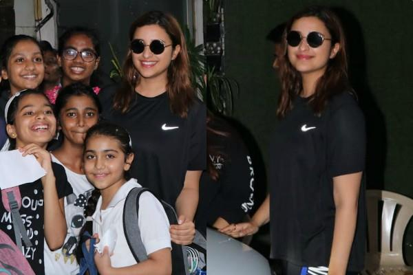 parineeti chopra having fun with fans
