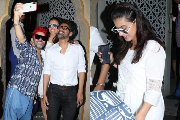 kajol spotted at juhu with friends