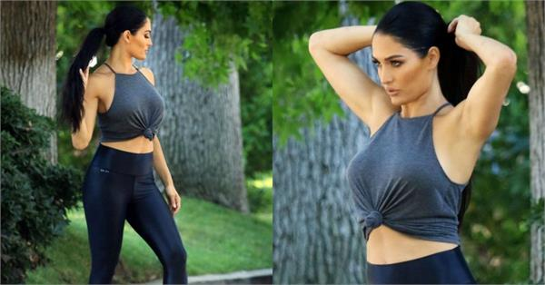 nikki bella workout photoshoot workout