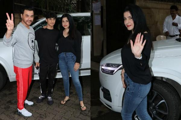 sanjay visited brother anil kapoor with wife maheep and son jahaan