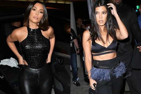 kim kardashian latest pictures with husband kanye west older sister kourtney