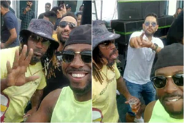 yuvraj did dance with gayle and russell in punjabi songs