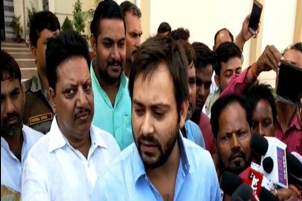 tejashwi meet lalu rims demand relief package10 thousand crore bihar centre