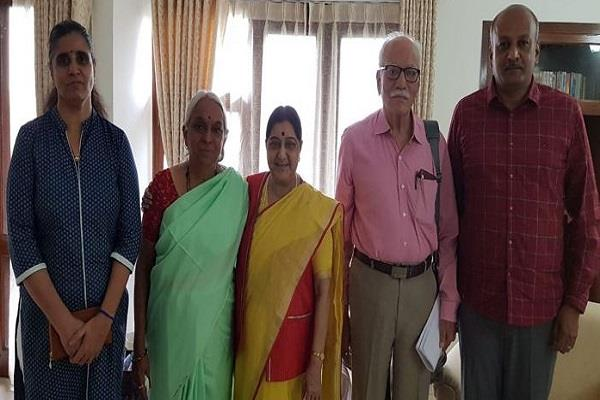 kulbhushan family meet with from sushma swaraj
