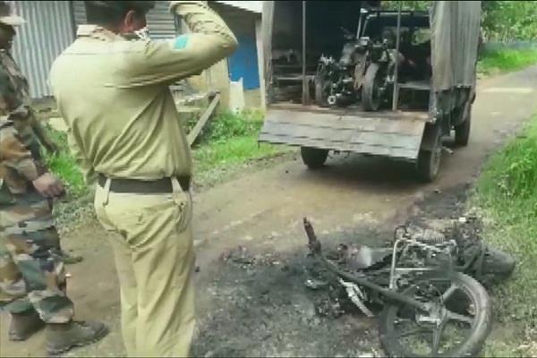 accusations on arson cpm in the promotion of panchayat elections in tripura