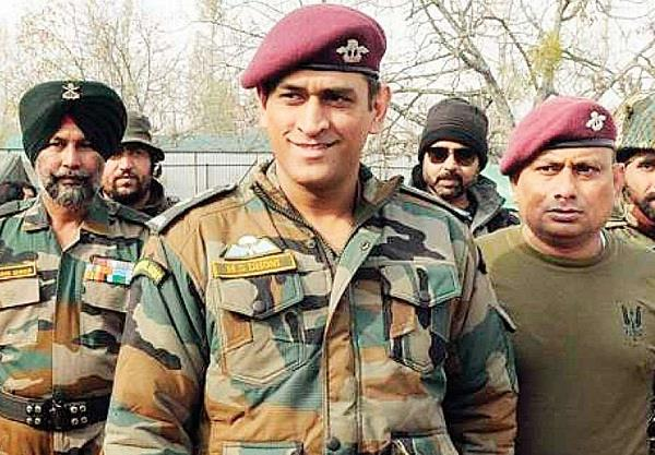 ms dhoni will be performing patrol and guard duty in kashmir