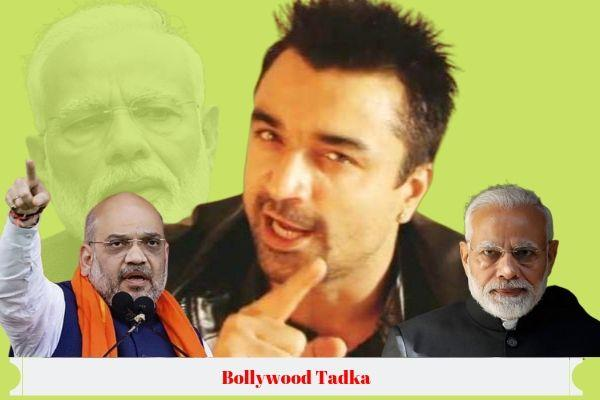 ajaz khan share a live video saying about bjp