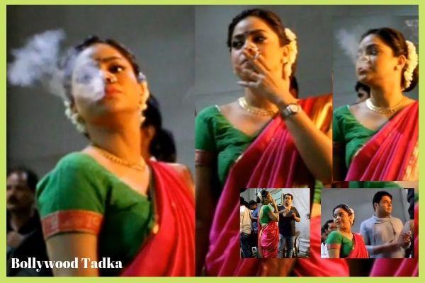 kapil sharma onscreen wife sumona chakravarti smoking