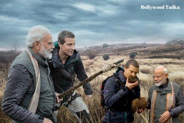 narendra modi in man vs wild show with bear grylls on discovery channel