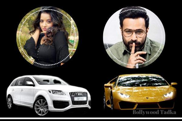 emraan hashmi and bhojpuri actress monalisa new car