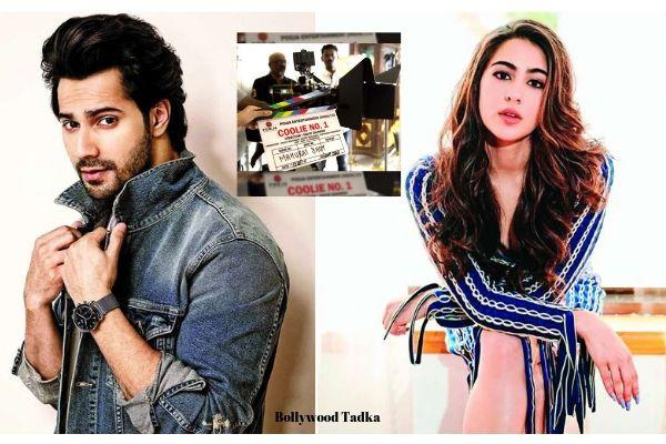 varun dhawan and sara ali khan movie coolie number 1 shooting start