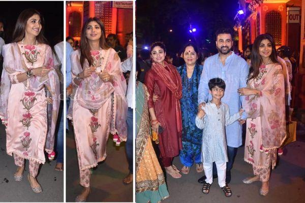 shilpa shetty celebrate janmashtami with her family