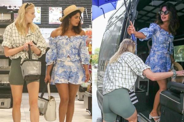 priyanka chopra shopping in miami with sophie turner