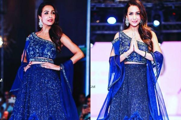 malaika arora look glamorous as she walk on ramp