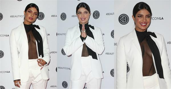 priyanka chopra attend beautycon in la