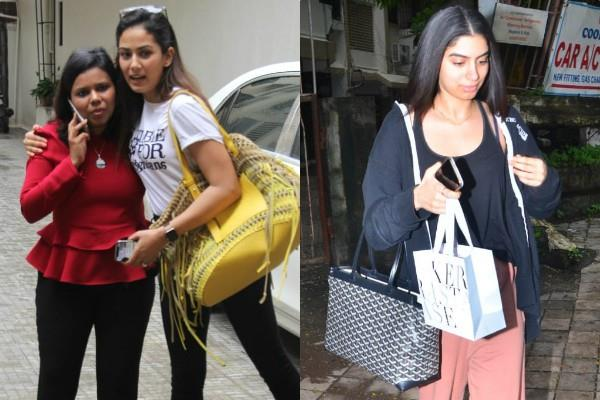 mira rajput khushi kapoor spotted outuside the salon