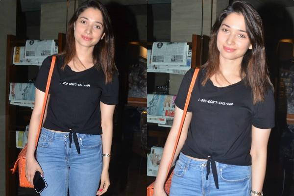 tamanna bhatia spotted outside the indigo delicatessen in bandra