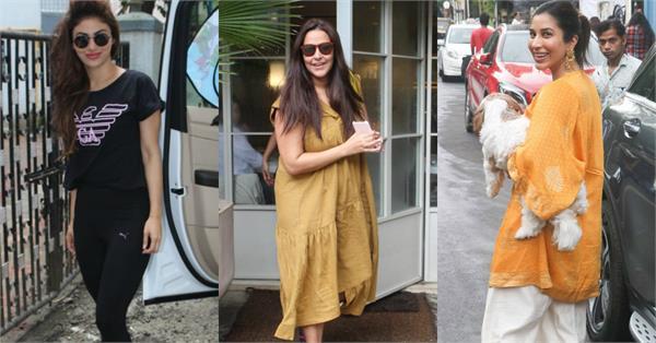 neha dhupia mouni roy sophie choudry spotted at mumbai