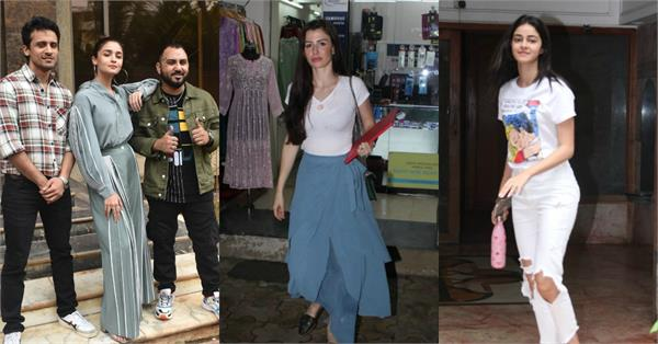 ananya pandey alia bhatt kriti sanon stars spotted in mumbai in different looks