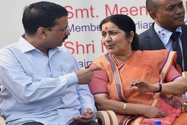 kejriwal expressed grief over sushma s death