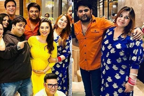 kapil sharma attend a friend baby shower with his wife ginni and team