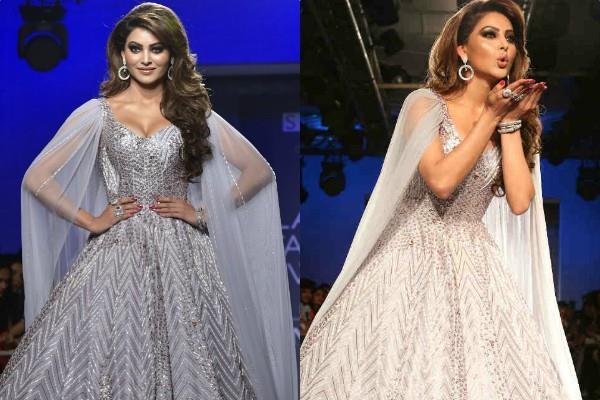 urvashi rautela looks beautiful in silver gown