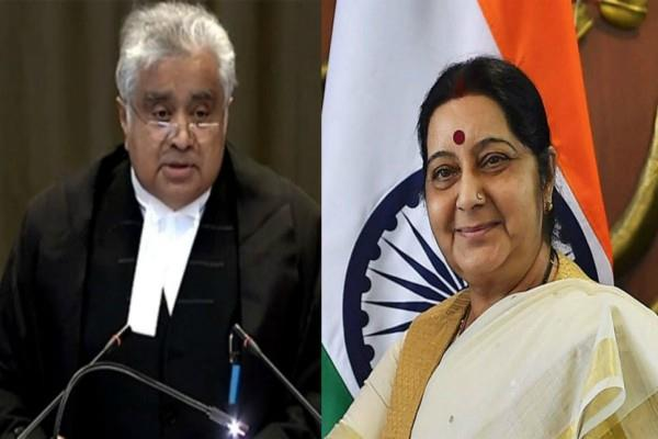 sushma swaraj last call to lawyer harish salve for 1 rupees