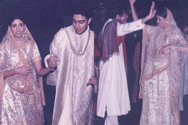 unseen pictures of amitabh bachchan daughter shweta bachchan nanda wedding
